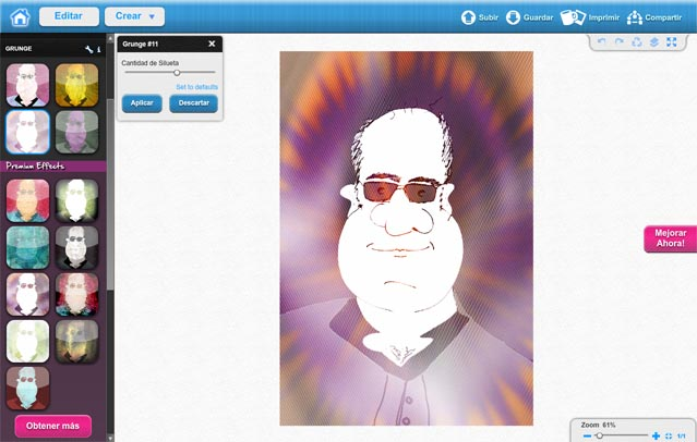 Caricaturas online - Convierte tus fotos a caricatura - Caricaturas de Famosos (6/6)