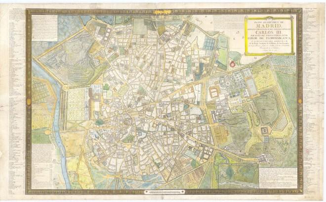 0490_10-H-24 Plano Geometrico de Madrid de Tomas Lopez - 1785
