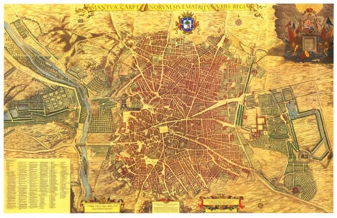 Topographia de la Villa descrita por Don Pedro Texeira. Año 1656